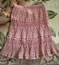 Photo: вязаная юбка крючком каскады