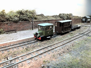 Photo: 132 A busy day and many route miles were clocked up by the Roving Reporter railcar as the Driver waits for a clear road before backing out of Edge in order to be turned for the trip to Wantage, the next layout on the visit list .