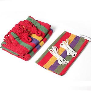 Hamac multicolor din bumbac pentru 1 persoana 180 x 80 cm