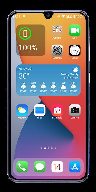 Launcher iOS 14 Android App Screenshot