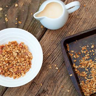 Healthier Rhubarb Crumble & Skinny Custard