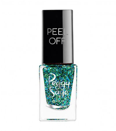 Nagellack peel off green glitter- 5ml