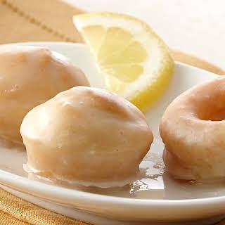 Mini Baked Donuts with Lemon Glaze.