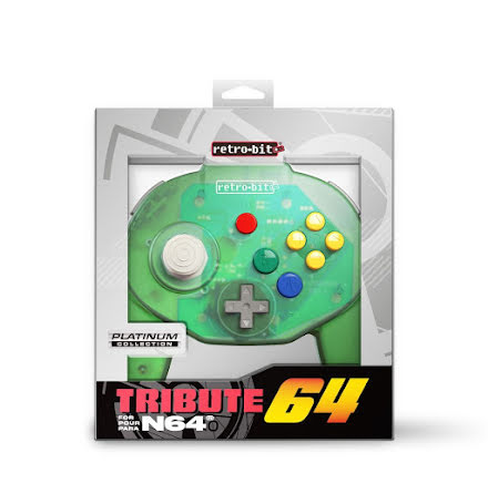 Tribute64 Controller - Nintendo 64/N64 - Forest Green - NEW