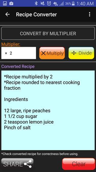 Kitchen Calculator (Converter)- screenshot