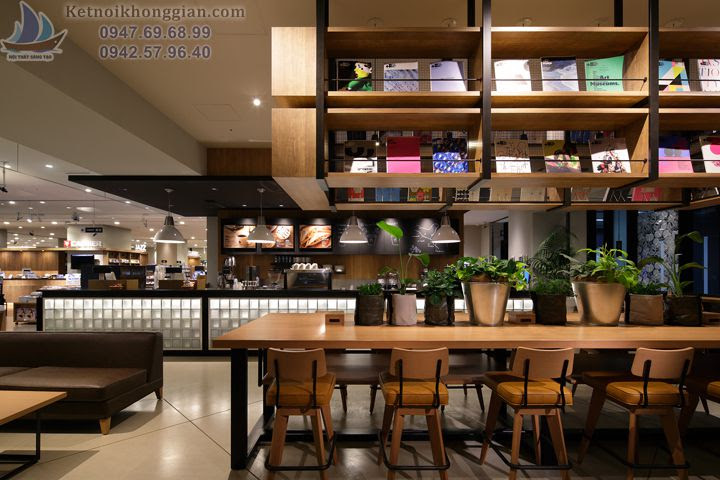 thiết kế quán cafe sách độc đáo, thiết kế nhà sách