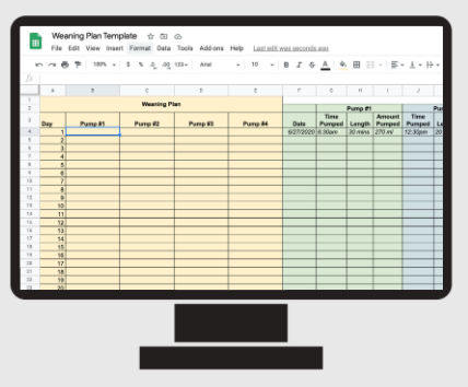 Weaning Plan Template