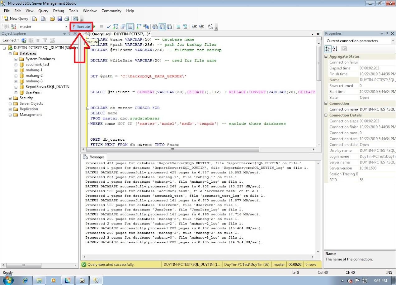 Hướng Dẫn Backup Và Restore Databases Gerber Accumark Trong SQL Server 14