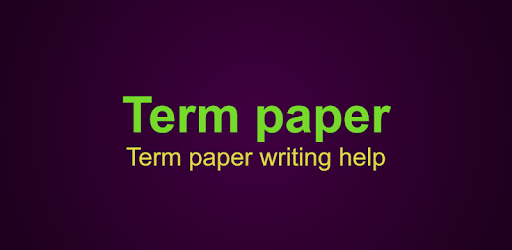 term paper app When you buy term papers online, it may seem intimidating to pay a downpayment but at grademiners, we ensure that your collaboration with us goes smoothly with this in mind, we stand behind our money-back guarantee, free revisions, complete confidentiality and safety of online transactions.
