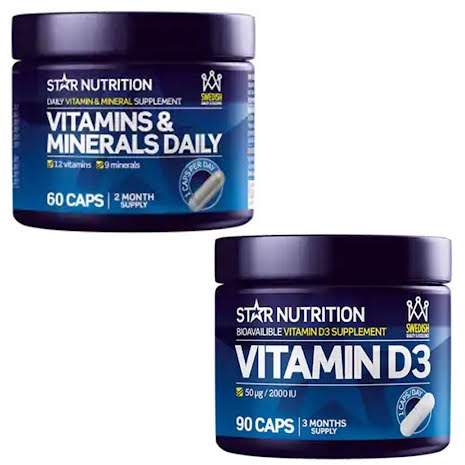 Star Nutrition D-vitamin + Vitamins & Minerals Daily