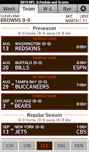 Football NFL Schedule & Scores- screenshot thumbnail