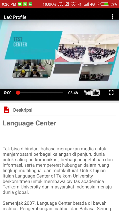Language Center Telkom University- screenshot