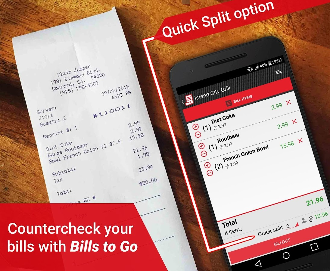 Bills to Go- screenshot