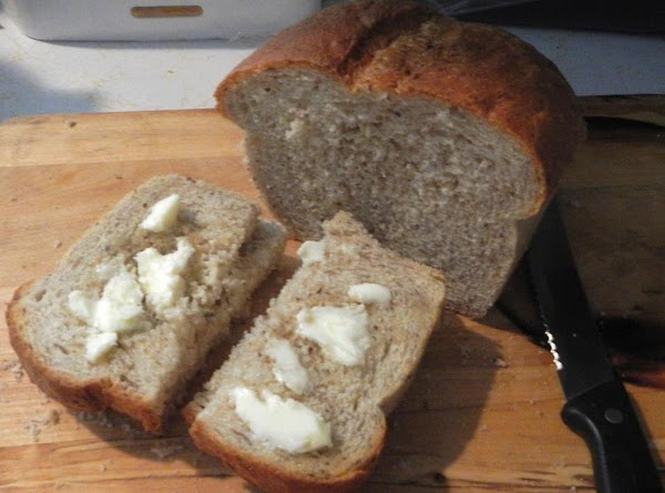 I had home made whole wheat bread my son made. Nice and crunchy...yummy! or serve with...