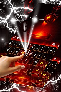 Red Metal Keyboard - náhled