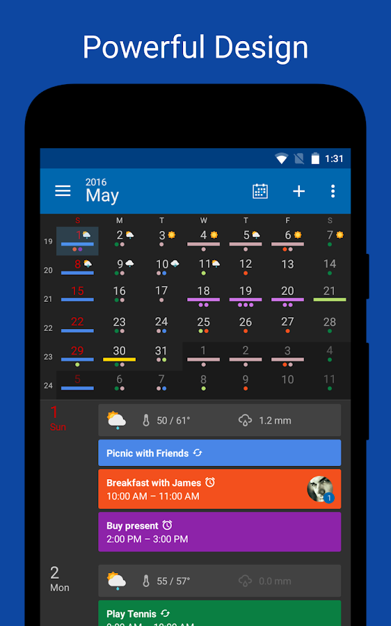 DigiCal Calendar Agenda- screenshot