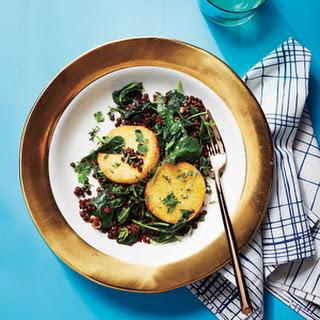Crispy Polenta with Warm Lentils and Kale.