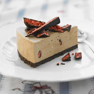 Chocolate Cherry Ripe Cheesecake.