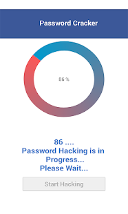 Password cracker simulator screenshot