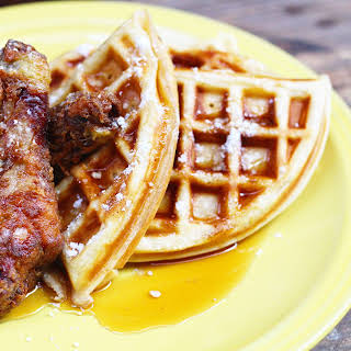 Cajun Fried Chicken and Waffles.