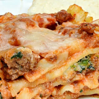Hearty Meat & Vegetable Lasagna.