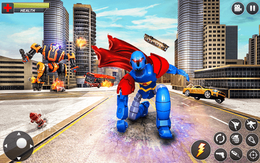Flying Hero Robot Transform Car: Robot Games modavailable screenshots 10