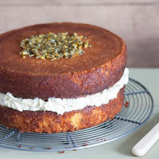 Gluten-free Passion Fruit And Coconut Cake.