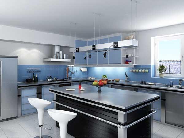 Bàn đảo bếp phong cách đơn giản hiện đại