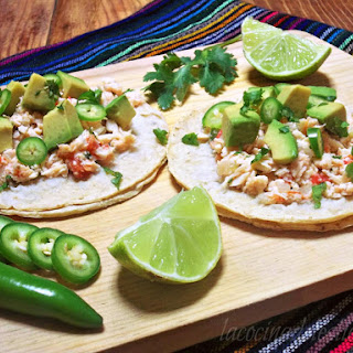 (Shredded Chicken Tacos).