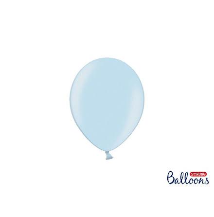 Ballonger 12 cm - Babyblå metallic