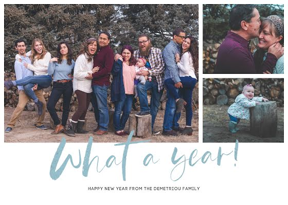 What a Year - New Year's Card Template