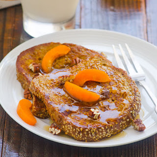Healthy Pumpkin Pie French Toast
