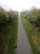 Photo: it's a long way to the top on the road of Cluny