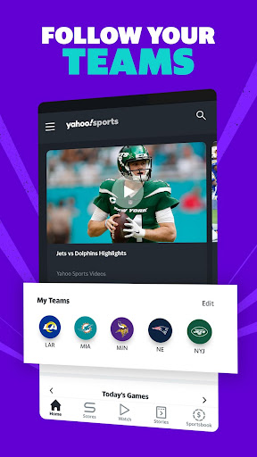 Yahoo Sports - Get scores & watch live NFL games Apk 2