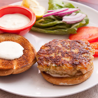 Homemade Shrimp Burgers.