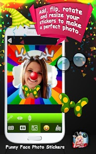 Funny Face Photo Stickers - náhled