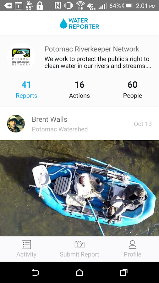 The Water Reporter- screenshot