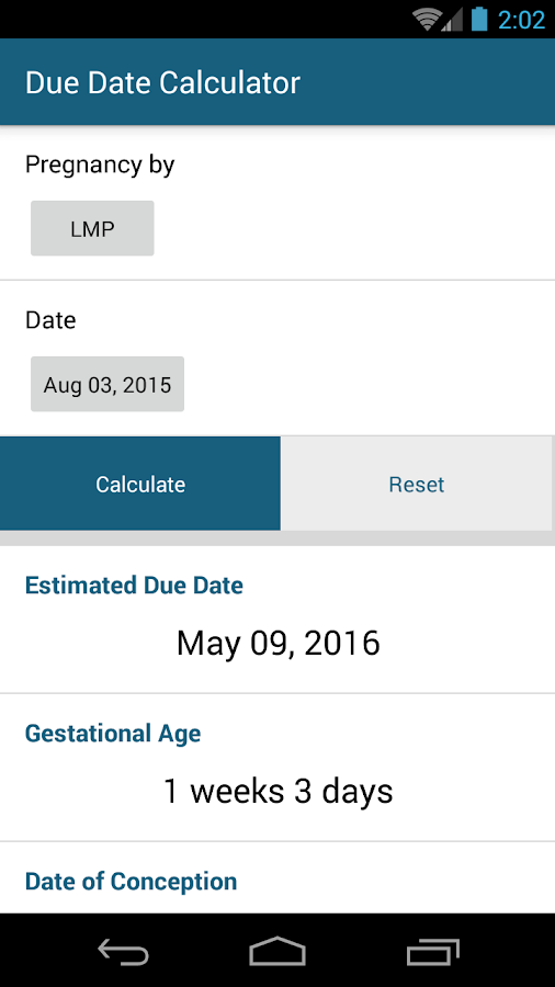 Due date calculator ovulation