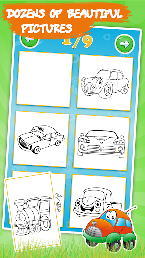 cars coloring pages : cartoon drawing for kids screenshot 2