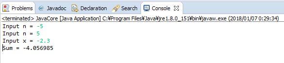 Java - S(n) = x + x^2/(1+2) + x^3/(1+2+3) +...+ x^n/(1+2+3+...+n)