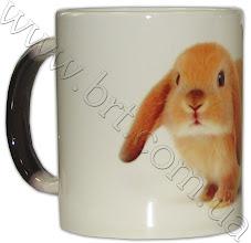 Photo: Кружка, меняющая цвет, с кроликом