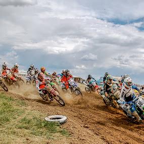 Holeshot by Zachary Zygowicz - Sports & Fitness Motorsports ( motocross, holeshot, racing, motorcycle, dirtbikes )