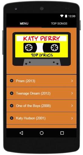 Katy Perry Lyrics Top