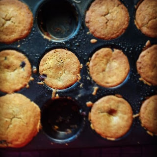 Flat Topped Blueberry Muffins.