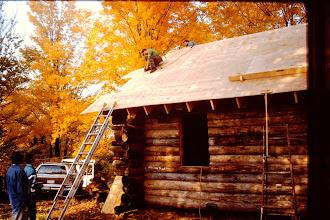Photo: Sheathing the roof.