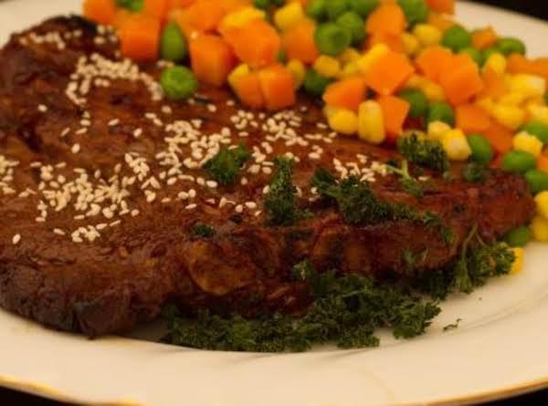 Garlic Sesame T-bone Or Porterhouse Steaks Recipe
