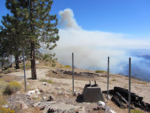 Photo: 3:16 p.m. - View south toward the Williams Fire 2012  from South Mount Hawkins one hour after it begin