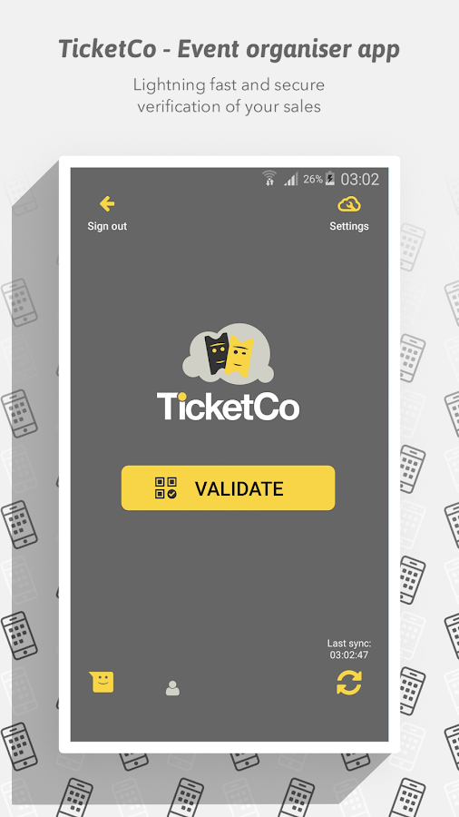 TicketCo - Event organiser app- screenshot
