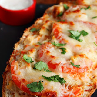 Italian Chicken Cheesy Bread