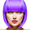 Eye, Hair Color Changer: Makeup Cam Photo Editor icon